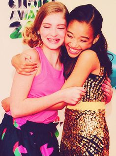 The Hunger Games Willow Shields (Prim) and Amandla Stenberg (Rue). So cute. :)
