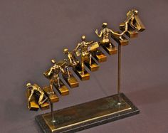Progression bronze sculpture edition 50 by johnstonsculpture