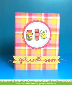 Lawn Fawn Intro: Stitched Kite, Scripty Smile, Get Well Soon Border, Grassy Hillside Borders | the Lawn Fawn blog | Bloglovin'