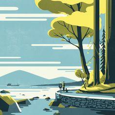 """8,664 次赞、 94 条评论 - Tom Haugomat (@tomhaugomat) 在 Instagram 发布:""""Here's the first of a five illustrations series for @stanleyparkbrew with @handsome_frank…"""""""