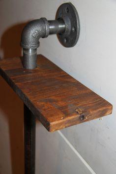 industrial shelf reclaimed wood & pipe