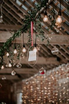 Hanging glass baubles are the perfect Little Touch to any wedding fill them with fairy lights or simply a single flower.
