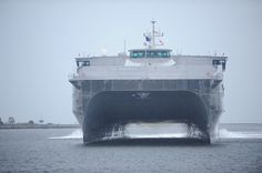 USNS Spearhead approaches Mayport, Fla.