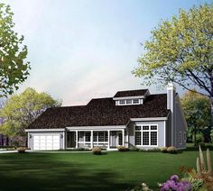 House Plan 95848 | Contemporary Country Plan with 1942 Sq. Ft., 3 Bedrooms, 3 Bathrooms, 2 Car Garage