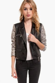 Kelsey Moto Jacket $80 at www.tobi.com