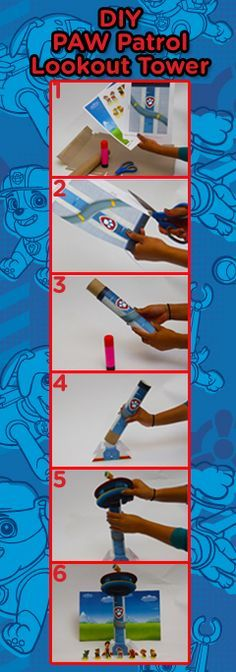 Turn a paper towel roll into a PAW Patrol Lookout Tower!