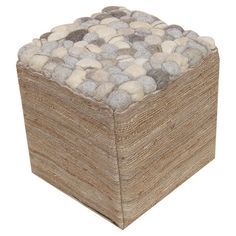 Felt pouf in a natural hue.   Product: PoufConstruction Material: Plyboard and fabricColor: Natural