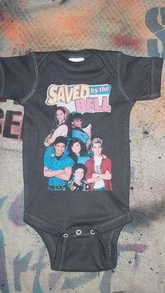 funny baby onesie 80s 90s TV Saved by the by rainbowalternative, $12.00