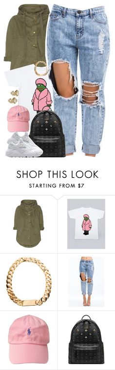 """""""Untitled #1469"""" by power-beauty ❤ liked on Polyvore featuring Current/Elliott, PèPè, MCM, NIKE, women's clothing, women, female, woman, misses and juniors"""