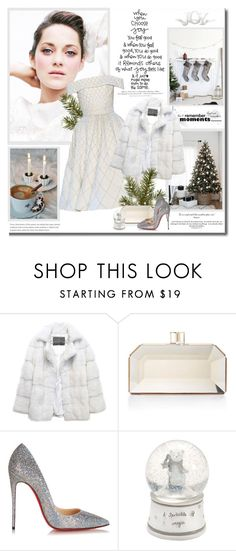 """""""When you choose joy you feel good & when you feel good, you do good & when you do good it reminds others of what joy feels like & it might just inspire them to do the same!!"""" by lilly-2711 ❤ liked on Polyvore featuring RALPH & RUSSO, Lilly e Violetta, Judith Leiber, Christian Louboutin, Merrythought, Mamas & Papas, H&M, christianlouboutin, fauxfur and MarionCotillard"""
