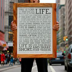 Holstee Manifesto Poster in Reclaimed Wood Frame