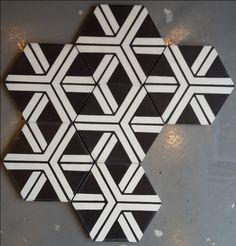 Carreaux de ciment Modele CH-21 hexagonal en 17x17 - Charme & Parquet