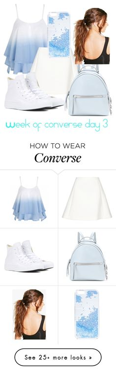 """""""Week of converse day 3"""" by aleah786-i on Polyvore featuring Neil Barrett, Fendi, Skinnydip, Boohoo and Converse"""