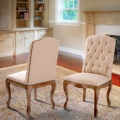 Shop for Weathered Hardwood Studded Tan Dining Chair (Set of 2) by Christopher Knight Home. Get free shipping at Overstock.com - Your Online Furniture Outlet Store! Get 5% in rewards with Club O!