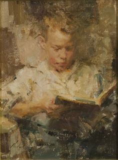 Artist: Carolyn Anderson - Title: Boy Reading II
