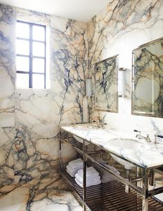 Unique Bathroom Sink Ideas That Are So Fresh and So Clean, Clean - Warm all-marble bathroom with polished chrome faucets, and matching chrome mirrors - Unique Bathroom Mirrors, Bathroom Mirror With Shelf, Rectangular Bathroom Mirror, Bathroom Mirror Makeover, Ideal Bathrooms, Master Bathroom, Mirror Vanity, Diy Vanity, Budget Bathroom