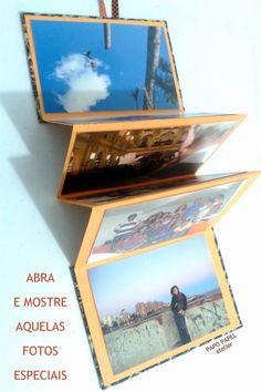 Álbum portátil - Criação: Esther Alcântara/PAPOPAPEL http://papopapel.blogspot.com