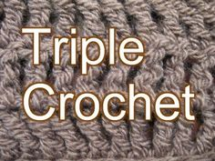 Beginner Crochet Stitches 9 - Triple Crochet - Slow Motion