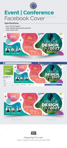 Event | Conference Facebook Cover Template PSD