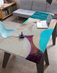 Surface Skins by BLIK were developed to bring some graphic art to boring furnishings. Use these furniture decals on tabletops, cabinets, and more.