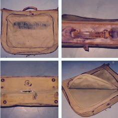 Vintage 1940's WWII US Army attaché case. Us Army, Messenger Bag, Suitcase, Satchel, Duffle Bags, Wwii, Vintage, Satchel Purse, World War Ii