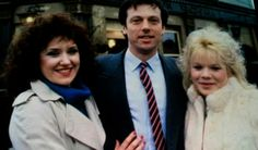 The original Eastenders cast, Angie, Den and Sharon in the Queen Vic Eastenders Spoilers, Eastenders Cast, Queen Vic, Lisa, Under The Knife, Soap Stars, Tv Soap, Best Pal, Strictly Come Dancing