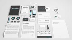Stationery and Branding Mockups PSD Templates - Web Resources Free Brand Identity Design, Branding Design, Corporate Branding, Identity Branding, Logo Design, Graphic Design, Photoshop, Phone Mockup, Mockup Templates