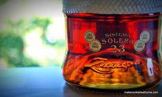 Ron Zacapa Rum Bottle  http://makecocktailsathome.com/new-download-master-cocktail-recipe-list/