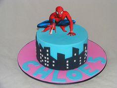 Girly Spiderman Cake by My Cake Place http://www.mycakeplace.com.au/