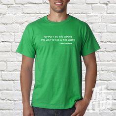 Gandhi quote Tshirt mahatma gandhi vegetarian Tshirt by TeeClub