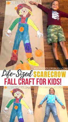 Fall Arts And Crafts, Kids Fall Crafts, Thanksgiving Crafts, Fall Crafts For Preschoolers, September Kids Crafts, Preschooler Crafts, Thanksgiving 2020, Holiday Crafts, Scarecrow Painting