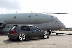 VW Golf GTI....love the grey matte paint job!