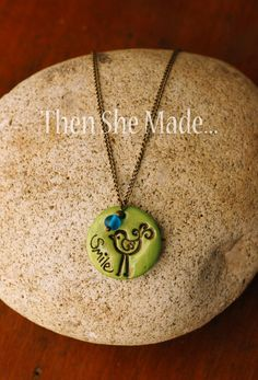 Smile Bird Pendant Necklace. $16.00, via Etsy.