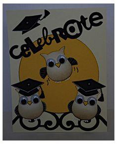 """""""Celebrate"""" - Owl Graduation Card"""