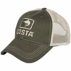 Mens Costa Del Mar Marlin XL Trucker Moss Stone One Size Costa Del Mar. c2f8884fb96b
