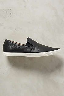 Anthropologie - All Black Pointed Leather Sneakers