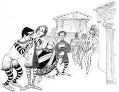 Al Hirschfeld.com - THE MARGO FEIDEN GALLERIES LTD. - Celebrating Stephen Sondheim's 80th Birthday - A Funny Thing Happened on the Way to the Forum