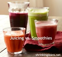 Juicing separates the fiber from the liquid. Fiber is vital to satiety and stabilized blood sugar. Juicing produces a lot of 'waste'. Fiber ...