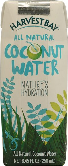 Harvest Bay All Natural Coconut Water - tastes a little like the last of cereal milk from, say... a slightly sweet cereal. B & J Pharmacy carries it now. Best I've tasted!