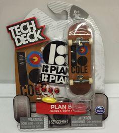 Tech Deck Plan B Series 1 Rare Chris Cole Fingerboard Sticker Tool & Wheels Deck #TechDeck