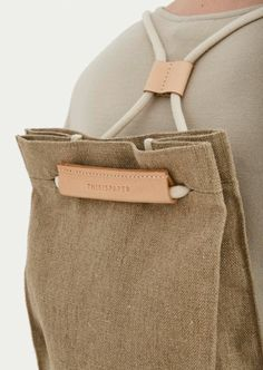 Thisispaper Pocket Bag Medium Raw Natural Pocket bag can be worn as a sack or as a shoulder bag. To transform it, simply pull the string. It features a linen lininig, one interior pocket, magnetic snaps at the top. Fashion Bags, Womens Fashion, Fashion Trends, Fashion 2018, Simple Bags, Fabric Bags, Medium Bags, Handmade Bags, Backpack Bags