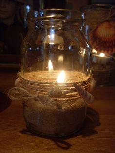 DIY Candle Jar---sea shells