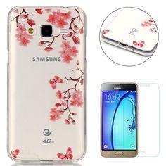 Coque Samsung Galaxy J3 2016/J310 Gel de Silicone Housse [Avec Gratuit Protection D'écran],CaseHome Cristal Clair Transparente Antichoc…