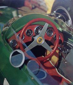 Lotus 25 Cockpit. Clarks car Monaco 1963 (Yves Debraine)...