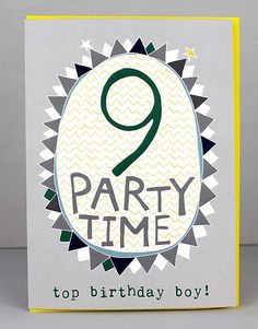 NEW 9th Birthday Cards For Boys by Molly Mae. I love this new range. You can also find the girls age range at Card Crush.