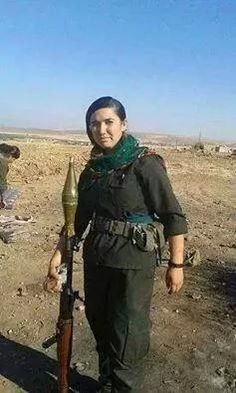 @joakim_medin Met Viyan at the Western front this weekend. Found out today she has been captured + decapitated by ISIS. #Kobane