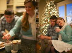 romantic couple's photography -#winter #christmas #engagement - raleigh nc wedding photographers