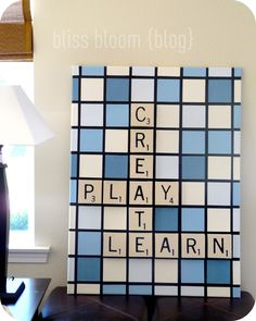 Just use letters, without the crossword backround for art