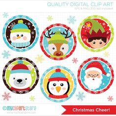 Imágenes Prediseñadas alegría de Navidad / por MyClipArtStore