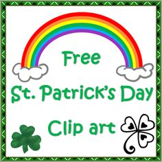 FREEBIE from Nyla's Crafty Teaching: St Patrick's Day Clip Art